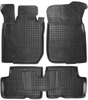 Коврики в салон для Renault Duster '10-14, 2WD резиновые, черные (AVTO-Gumm)