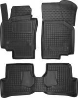 Коврики в салон для Seat Altea / Altea XL '07-15 резиновые, черные (AVTO-Gumm)