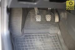 Коврики в салон для Seat Ibiza '12- резиновые, черные (AVTO-Gumm)