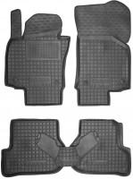 Коврики в салон для Skoda Octavia A5 '05-13 резиновые, черные (AVTO-Gumm)