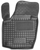 Фото 2 - Коврики в салон для Skoda Rapid '13- резиновые, черные (AVTO-Gumm)
