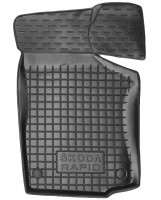 Фото 3 - Коврики в салон для Skoda Rapid '13- резиновые, черные (AVTO-Gumm)