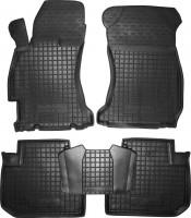Коврики в салон для Subaru Forester '13-18 резиновые, черные (AVTO-Gumm)