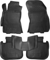 Коврики в салон для Subaru Legacy '10-14 резиновые, черные (AVTO-Gumm)