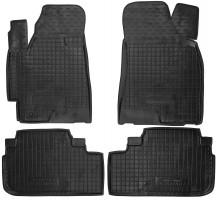 Коврики в салон для Toyota Highlander '07-13 резиновые, черные (AVTO-Gumm)