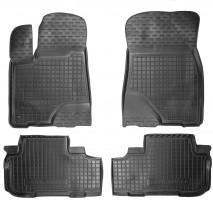 Коврики в салон для Toyota Highlander '14- резиновые, черные (AVTO-Gumm)