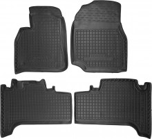 Коврики в салон для Toyota Land Cruiser 100 '98-07 резиновые, черные (AVTO-Gumm)