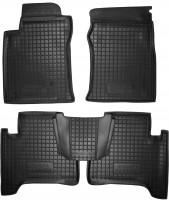 Коврики в салон для Toyota LC Prado 120 '03-09 резиновые, черные (AVTO-Gumm)