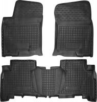 Коврики в салон для Toyota LC Prado 150 '10- резиновые, черные (AVTO-Gumm)
