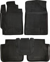 Коврики в салон для Toyota Camry V40 '06-11 резиновые, черные (AVTO-Gumm)