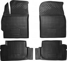 Коврики в салон для Toyota Corolla '13- резиновые, черные (AVTO-Gumm)