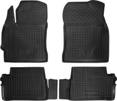 Коврики в салон для Toyota Auris '13- резиновые, черные (AVTO-Gumm)