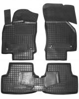 Коврики в салон для Volkswagen Golf VII '12- резиновые, черные (AVTO-Gumm)