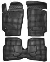 Коврики в салон для Volkswagen Polo '10- седан резиновые, черные (AVTO-Gumm)