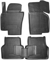 Коврики в салон для Volkswagen Tiguan '07-16 резиновые, черные (AVTO-Gumm)