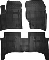Коврики в салон для Volkswagen Touareg '02-09 резиновые, черные (AVTO-Gumm)