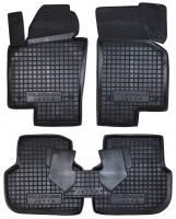 Коврики в салон для Volkswagen Jetta VI '10- резиновые, черные (AVTO-Gumm)