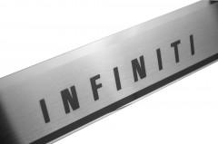 Фото 3 - Накладки на пороги для Infiniti EX (QX50) '08- (Premium)