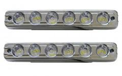 Дневные ходовые огни универсальные SKD-010 линзованные, с функцией поворотов и притухания