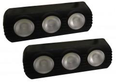 Дневные ходовые огни универсальные SKD-013 линзованные, с функцией поворотов и притухания