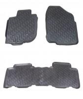 Коврики в салон для Toyota RAV4 '06-12 резиновые, черные (Star Diamond) Long
