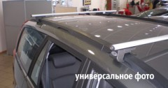 Багажник на рейлинги для Chevrolet Lacetti '03-12 универсал, аэродинамический, сквозной (Десна-Авто)