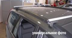Багажник на рейлинги для Dacia Logan MCV '06-12, аэродинамический стальной, сквозной (Десна-Авто)