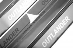 Фото товара 2 - Накладки на пороги для Mitsubishi Outlander '03-07 (Premium)