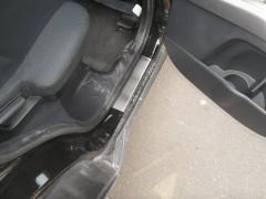 Фото товара 4 - Накладки на пороги для Mitsubishi Outlander '03-07 (Premium)