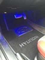 Коврики в салон для Hyundai Coupe '02-09 текстильные, серые (Люкс)
