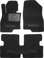 Коврики в салон для Mazda 3 '14- текстильные, черные (Люкс)