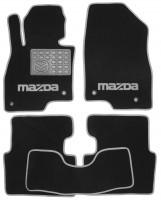 Коврики в салон для Mazda 3 '14- текстильные, серые (Люкс)