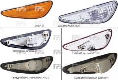 Указатель поворота в бампере Nissan Maxima '00-06 комплект, белый (прозрачный) (DEPO)