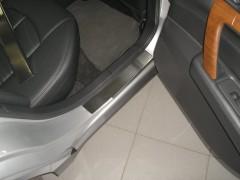 Фото 7 - Накладки на пороги для Nissan Teana '07- (Premium)
