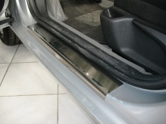 Фото 3 - Накладки на пороги для Peugeot 407 '04- универсал (Premium)