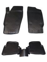 Коврики в салон для Seat Ibiza '08- полиуретановые, черные (L.Locker)