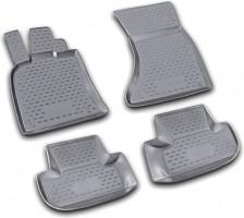 Коврики в салон для Audi Q5 '08-17 полиуретановые, черные (Novline)