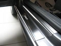 Накладки на пороги для Volkswagen Golf Vi 5D (Premium)