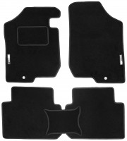 Коврики в салон для Kia Carens '07-12 текстильные, черные (Стандарт) МКПП