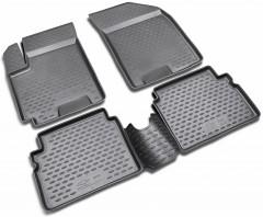 Коврики в салон для Chevrolet Aveo '04-11 полиуретановые, черные (Novline) EXP.NLC.08.06.210k