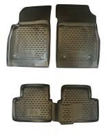 Коврики в салон для Chevrolet Cruze '09- полиуретановые, черные (Novline / Element)