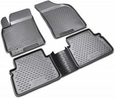 Коврики в салон для Chevrolet Lacetti '03-12 полиуретановые, черные (Novline / Element)