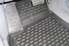 Фото 7 - Коврики в салон для Chevrolet Lacetti '03-12 полиуретановые, серые (Novline)