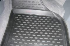 Фото 8 - Коврики в салон для Chevrolet Lacetti '03-12 полиуретановые, серые (Novline)
