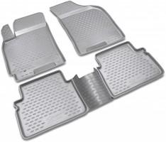 Коврики в салон для Chevrolet Lacetti '03-12 полиуретановые, серые (Novline / Element)