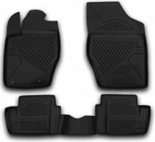 Коврики в салон для Citroen C4 '05-09 полиуретановые, черные (Novline) EXP.C000000006