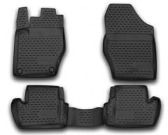 Коврики в салон для Citroen DS4 '11- полиуретановые, черные (Novline / Element)
