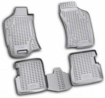 Коврики в салон для Fiat Albea '02-11 полиуретановые, серые (Novline / Element)