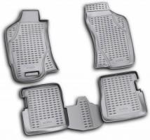 Коврики в салон для Fiat Albea '02-11 полиуретановые, черные (Novline / Element)