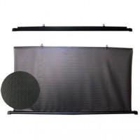 Шторка солнцезащитная c роликовым механизмом 57см х 110 см. (внутр. сторона - черная)